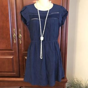 medium Anthropologie E (Hanger) M blue dress.